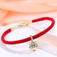 Wholesale zodiac 3d for sale - Group buy New D Gold Pig Pendant Bracelet Year of Fate Red String Bracelet Chinese Zodiac Lucky Jewelry Gift For Women Men
