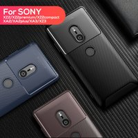 xperia silikon kılıf toptan satış-TPU Yumuşak Silikon Kılıf Darbeye Dayanıklı Dayanıklı Telefon Kılıfları Kapak SONY Xperia Için XA2 XA3 XZ2 XZ3 kompakt artı