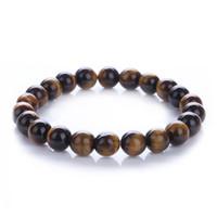 Wholesale beads semi precious resale online - 8mm Meditation Bracelet Fashion Mens Womens Jewelry Natural Gemstone Beads Reiki Healing Crystal Semi Precious Elastic Bracelet D74S A