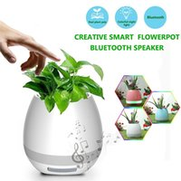 ingrosso bluetooth altoparlante fiori per telefono-ALK 1pc impermeabile altoparlante senza fili Bluetooth Flower Pot LED Light Altoparlante Colonna Flowerpot Smart Robot Speaker per Smart Phone