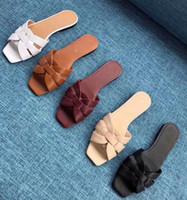 bonbons talons mignons achat en gros de-H nouvelle mode luxe sandales coulissantes pantoufles femmes pantoufles AVEC BOÎTE ORIGINALE Hot Designer fait à la main floSize: 35-40 Avec boîte U54