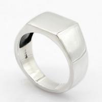 ring lovers man venda por atacado-925 Anel de Prata Esterlina para Homens Retângulo Clássico Simples Anel de Dedo de Prata Mulheres Anel Amantes de Jóias de Casamento Nova Chegada