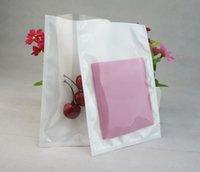 ingrosso casse bianche del telefono bianco-Sacchetto piatto bianco trasparente della membrana madreperla BOPP, 100pcs / pack