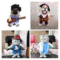 yüklü gitar toptan satış-Pet Köpek Giyim Dik Korsan Loaded Köpek Giyim Kovboy Doktor Daimi Gitar Komik Elbise dönüştü Loaded Malzemeleri