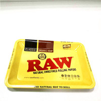 Wholesale raw resale online - 18 cm Mini Rolling RAW Tray Tobacco Storage Plate Accommodating Discs for Smoke Rolling Herb Tobacco Grinder Water Pipe Glass Bong