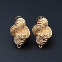 ingrosso appendiabiti di fiori in metallo-Orecchini di orecchini africani con connettori ad anello gancio Solid Flower India Ankara Orecchini da sposa per donna Ciondola gioielli in metallo