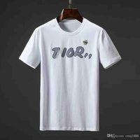 camisas para hombre de cuello blanco al por mayor-Camisetas de moda para hombre Algodón Hombre fuera de la ropa Camiseta Cuello redondo multimillonario Hombre Tops Manga corta de verano Negro Blanco la carta camiseta camiseta