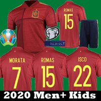 Wholesale soccer jersey shirt spain for sale - Group buy Eruo cup Spain Home Asensio ISCO RAMOS MORATA soccer jerseys kit Espana camisetas PIQUE INIESTA DIEGO COSTA Kids Football Shirts
