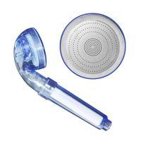 Wholesale plastic head gear resale online - Portable Bathroom PP Cotton Filter Shower Head PVC Three Gears Water Saving Shower Head Quality