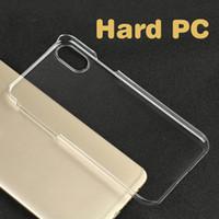ingrosso plastica dura trasparente-Custodia rigida trasparente in plastica trasparente Custodia rigida per sublimazione Cover per iPhone XS MAX XR X 7 8 6 Plus 5 SE