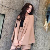 estilo de chaqueta femenina coreana al por mayor-Nueva versión coreana de la moda británica europea y americana de capa irregular estilo chaqueta traje traje casual femenino