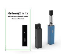óleo descartável venda por atacado-Orthrus vapes bateria 2in1 adequado para vagens descartáveis 510 óleo grosso dank carts cartuchos caneta vape mods janus cigarro eletrônico