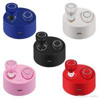 unsichtbare ohr drahtlose kopfhörer großhandel-TWS-F1 Kabellose Kopfhörer Unsichtbarer Kopfhörer In-Ear-Stereo-Musik-Bluetooth-Headsets Freisprechmikrofon 450mAh Ladebox 2019