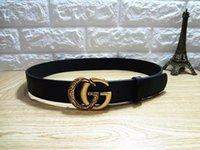 Wholesale decorative belts ladies resale online - 2 cm Retro style pin and buckle decorative belt ladies Korean version of the black belt with a wide range