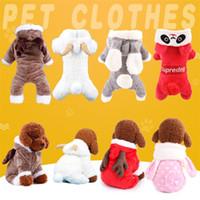 corales grandes al por mayor-Otoño e invierno de cuatro patas ropa para mascotas engrosamiento de doble capa perro ropa de abrigo suave de terciopelo coral Outfit 18md Ww