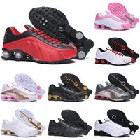 Wholesale athletic shoes dropshipping resale online - Dropshipping Deliver RZ Shox Running Shoes for men women Triple Black White White Gold Red Black DELIVER OZ NZ Athletic Sports Sneakers