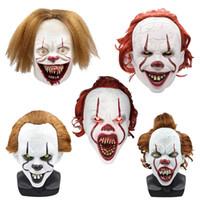 Wholesale headgear costume resale online - Halloween vinyan Mask clown Cosplay Helmet Cap Party Mask Props Concert Costumes Gift Masquerade Full Face Masks headgear LJJA3155