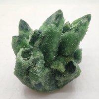 ingrosso pietra verde per la decorazione-Green Ghost Phantom Quarzo cristallo Cluster Quarzo naturale Minerali Pietra Healing Specimen Casa o decorazione di nozze