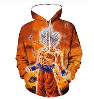 trajes de cosplay de bola de dragão venda por atacado-New Dragon Ball Cosplay dos desenhos animados Hoodies homens Slipover camisola jaqueta Superhero solto e confortável