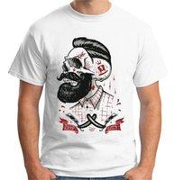 ingrosso barbiere di barba-T-Shirt Hipster da uomo Deep Velocitye Barbi Shop Barbers Tattoo Barba V43