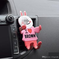 Wholesale car phone holder cute online – Universal Flexible Soft Rubber Cat Car Holder Fashion Cute Air Vent Mount Car Phone Holder Silicone Mobile Phone Holder