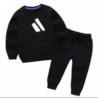kız giyim seti markalar toptan satış-Sıcak satış Marka Bebek Tracksuits İlkbahar Sonbahar Erkek Bebek Kız Pamuk Tam kollu Ceket + pantolon 2adet / Erkek Çocuk Giyim Seti Bebek Set setleri
