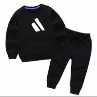ropa de niños chaquetas al por mayor-venta caliente Marca chándales del bebé del otoño del resorte del bebé del algodón de la muchacha completa chaqueta de mangas + pantalones 2pcs / muchachos de los Niños de la ropa del bebé fijó