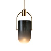 Wholesale bucket lamps for sale - Group buy Nordic postmodern creative living room bucket glass pendant lights hotel restaurant bar desk bedside bedroom small pendant lamps