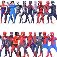 ingrosso costumi incredibili-Bambini Spider Cosplay Calzamaglia Bambini Amaze Cosplay Vestiti Boy Panther Apparel Capitan Halloween Day Stage Performance Costume