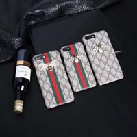 peau de cristal iphone achat en gros de-Vogue Smartphone Couverture De Coquille De Peau Avec Coque Populaire Modèle Motif Cristal Abeille Cristal Pour Iphone XS Max / XR X 8/7/6 Plus