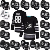 jersey sidney al por mayor-2019 NHL All Star Hockey Jersey Connor McDavid David Pastrnak Joe Pavelski Brent Burns Henrik Lundqvist Sidney Crosby Patrick Kane Negro