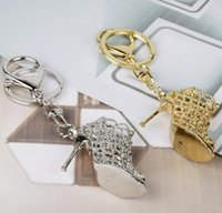 Wholesale shoe holder for rings for sale - DHL shoe keychain Women High Heeled Key chains ring Purse Pendant Bags Cars Shoe Ring Holder Chains Key Rings For Women Gifts