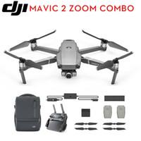 combos vidéo achat en gros de-DJI MAVIC 2 ZOOM 2X ZOOM Optique 4K Caméra FHD Vidéo 48MP + FLY PLUS COMBO KIT