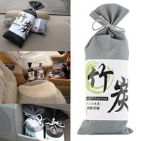 bambuskohletaschen großhandel-100g auto lufterfrischer auto luftreiniger zubehör duft japanischen multifunktions holzkohlebeutel beseitigen gerüche bambuskohle versandkostenfrei