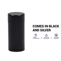 коробка с цилиндрическим корпусом оптовых-Вода / воздухостойкий может с логотипом Pill Box случае резиновые воздухонепроницаемые Серебряный алюминий герметичный цилиндр тайник случае табак трава хранения бутылки коробка