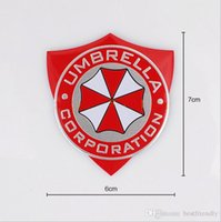 adesivo guarda-chuva venda por atacado-50 pcs Resident Evil Umbrella Metal Car 3D Car Decorar Emblema Emblema Etiqueta Auto Etiqueta Emblemas Emblemas Trilha Do Carro 70 * 60mm