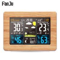 Wholesale weather station sensors for sale - Group buy Alarm Clock Digital Watch Temperature Humidity Sensor Barometer Forecast Weather Station Electronic Desk Table Clocks