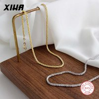 Wholesale starry sky necklace resale online - Starry Sky Boho Gold Color Choker Chain Necklace for Women Sterling Silver Short Dainty Necklaces for Girls Teens