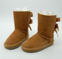botas de cuero para niñas gratis al por mayor-Niños GRATIS ENVÍO calza botas de nieve de cuero genuino para Niños Botas con los arcos de niños Calzado chicas cargadores de la nieve