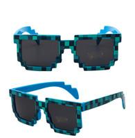 Wholesale grids sunglasses resale online - Unisex Pixel Mosaic Sunglasses Men Women Grid Glasses Vintageb Square Lattice Sunglasses Shades Trendy Hip pop Glasses Streetwear A52906