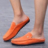 männer halbe pantoffelschuhe groihandel-Bester Verkauf Halb Pantoffeln Männer Anti-Slip Slip-on-Flats Schuhe Bequeme Junge beiläufige Fußbekleidung der Männer Marken-Männer Loafer Schuhe