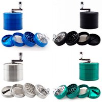 Wholesale end grinders for sale - Group buy Zinc Alloy Grinder High End Four Layers Smoking Set Accessories Multi Colors Hand Operation Grinders New Arrival xy L1