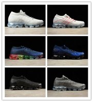 leichte atmungsaktive laufschuhe großhandel-Nike Air VaporMax Flyknit 2018 neue 2,0 Verkauf Licht Weiche Turnschuhe Frauen Atmungsaktive Sportschuhe Corss Wandern Jogging Socke Turnschuhe Herren Laufschuhe