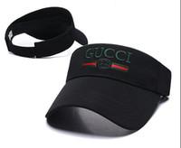 tênis golf baseball venda por atacado-2020 novos designers chapéu de golfe pala de sol sunvisor chapéu de festa vazia tampões superiores Boné de beisebol ajustável chapéus chapéu protetor solar Ténis Praia chapéus elásticas