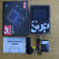 mini video portátil venda por atacado-Console de jogos preto SUP Mini Handheld Game Box Portable Clássico jogo de vídeo jogador de 3,0 polegadas Color Display 400 jogos AV-out