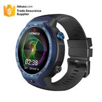relógio elegante lemfo venda por atacado-2019 LEMFO LEM9 4G LTE Telefone Inteligente Relógio Android 7.1.1 Sistemas Duplos 16 GB + 1 GB 5MP Frente Da Câmera de espera 5 dias Smartwatch GPS