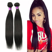 Wholesale black curly weave hair extensions online - brazilian straight Human hair Extensions virgin Brazilian hair bundles natural black brazilian virgin hair straight weaves straight