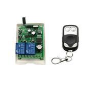 rf 315mhz universal venda por atacado-DC 12 V 24 V 36 V 48 V 10A relé interruptor de Controle Remoto Sem Fio 2CH RF interruptor de aprendizagem de iluminação Universal 315 mhz