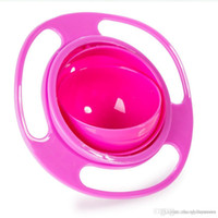 Wholesale baby spill rotating bowl resale online - httoy New Avoid Food Spilling Rotating Baby Kid Non Spill Feeding Toddler Gyro Bowl
