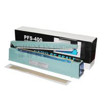 импульсный герметик оптовых-Ручная машина запечатывания импа Ульс, уплотнитель полиэтиленовых пакетов, ручной алюминиевый уплотнитель сумок, упаковывая уплотнитель 400мм 110В, нагревающий провод 2
